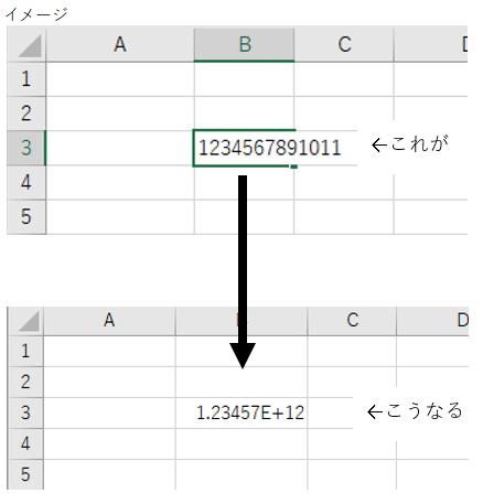 Excel vba 数字が指数表示になってしまう・・・ | 長瀬高秋のIT日記